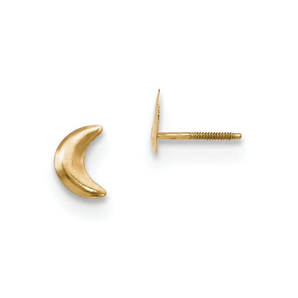 14k Yellow Gold Madi K Moon Post Earrings, 8mm x 8mm