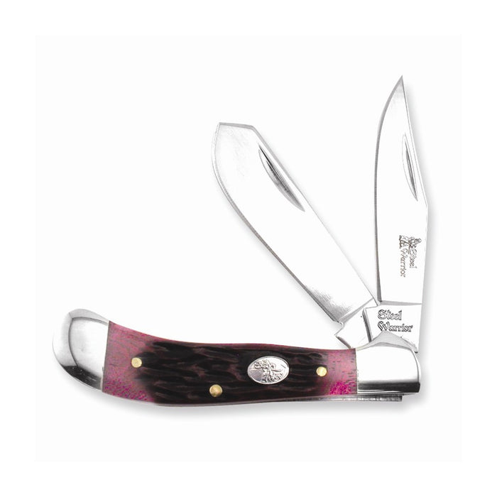 Steel Warrior Red Walnut Jig Saddlehorn Knife