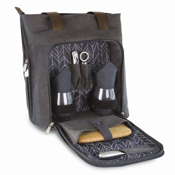 Sonoma® Expandable 3-Bottle, Service For 2 Wine & Cheese Tote