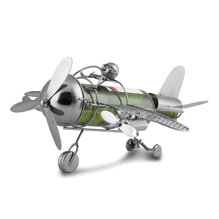 Occasion Gallery®  Airplane Metal Wine Caddy