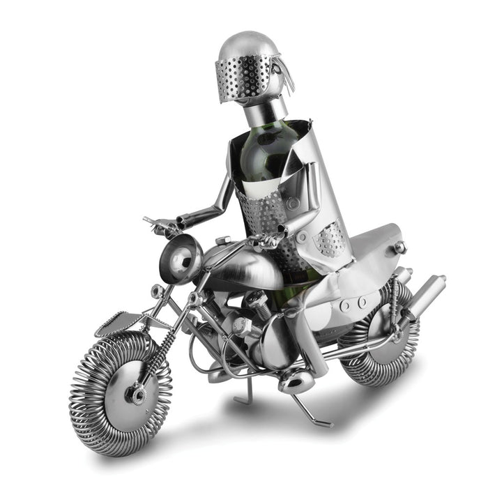 Occasion Gallery®  Motorcyclist Metal Wine Caddy