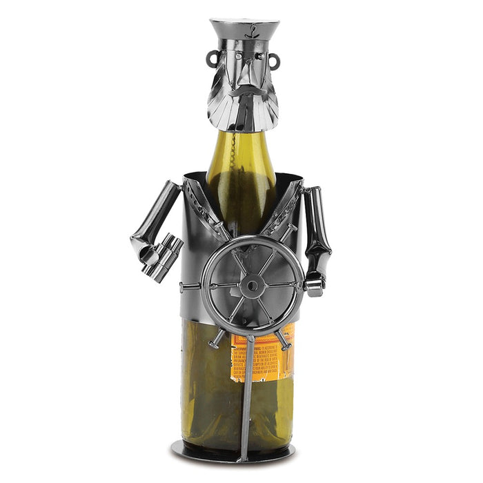 Occasion Gallery®  Ship's Captain Metal Wine Caddy