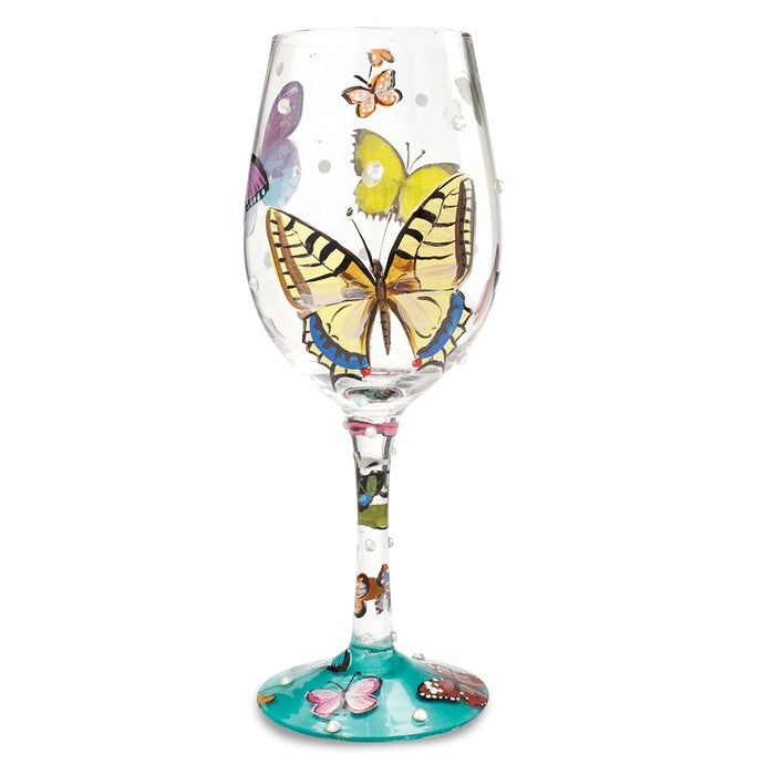 Lolita® Butterfly Wishes Wine Glass