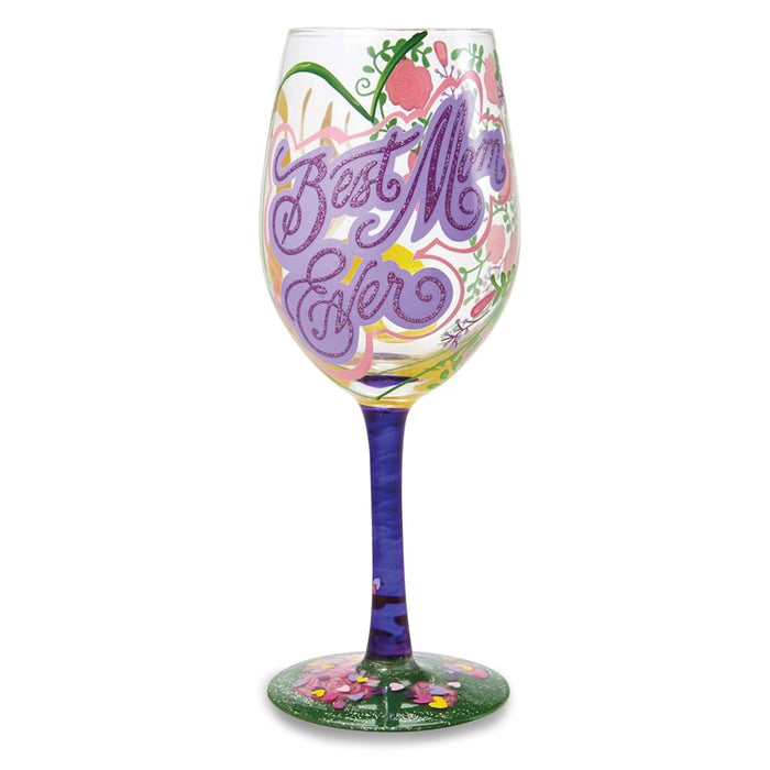 Lolita® Best Mom Ever Wine Glass