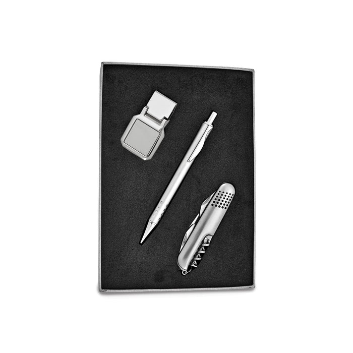 Knife, Pen and Square Money Clip Gift Set