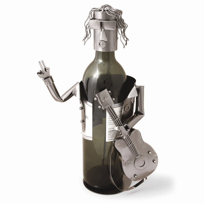 Occasion Gallery®  Guitarist Metal Wine Caddy