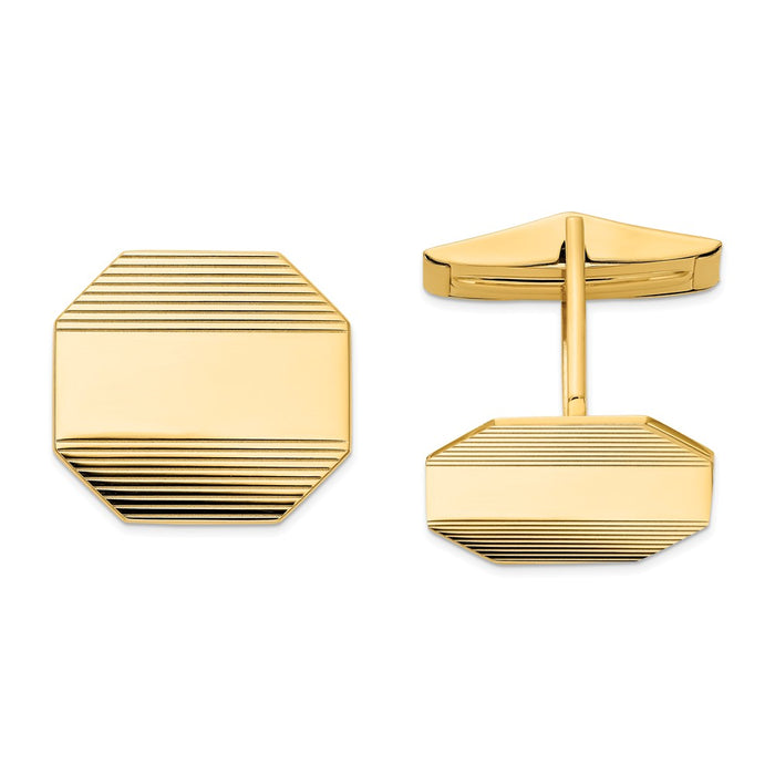 Occasion Gallery, Men's Accessories, 14k Yellow Gold Cuff Links