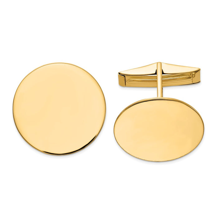 Occasion Gallery, Men's Accessories, 14k Yellow Gold Circular Cuff Links