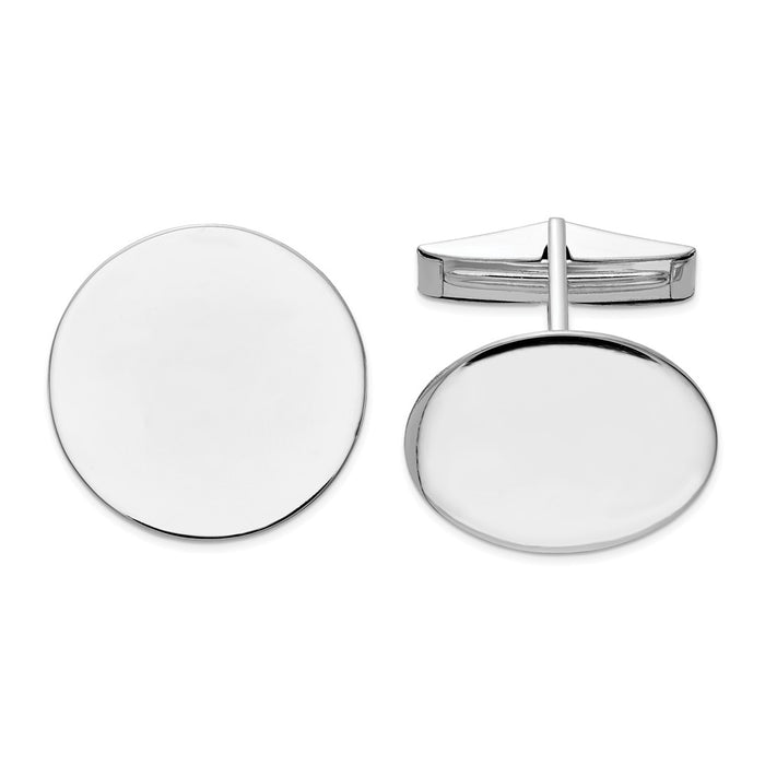 Occasion Gallery, Men's Accessories, 14K White Gold Circular Cuff Links