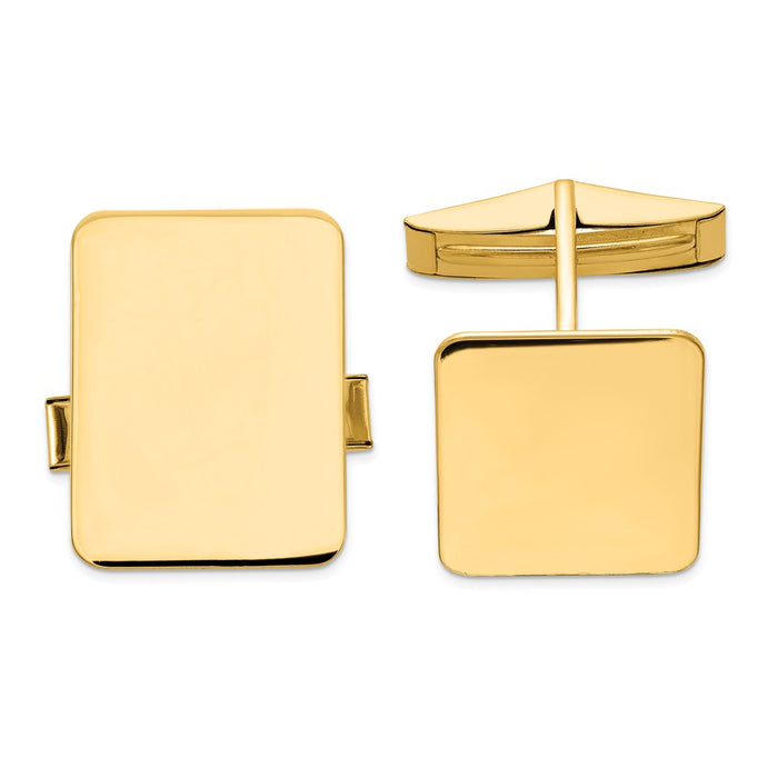 Occasion Gallery, Men's Accessories, 14k Yellow Gold Rectangular Cuff Links