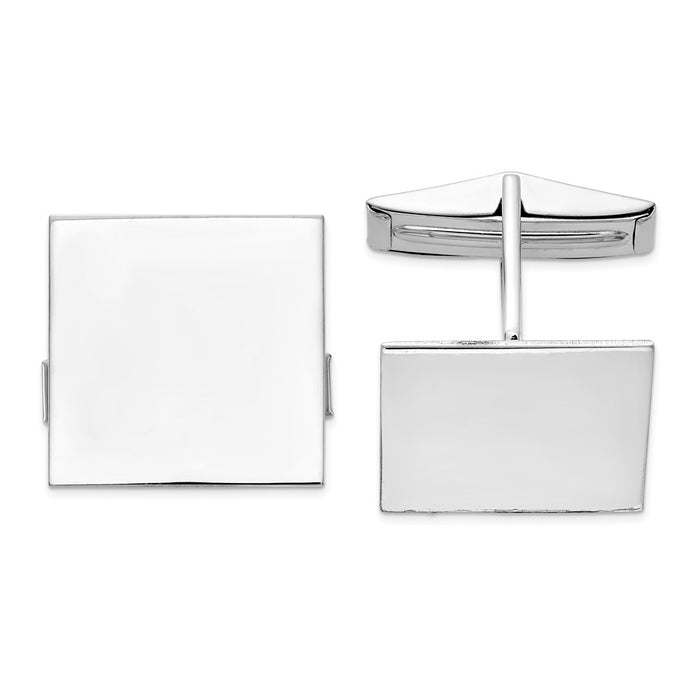 Occasion Gallery, Men's Accessories, 14K White Gold Square Cuff Links