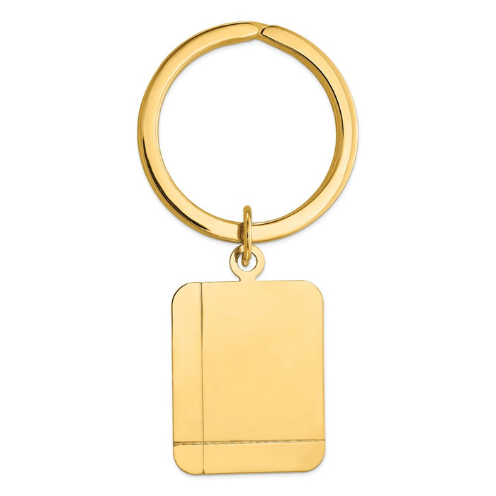 Occasion Gallery 14k Yellow Gold Rectangle Disc Key Ring