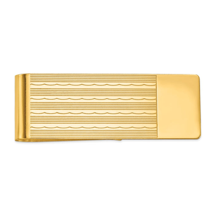 Occasion Gallery, Men's Accessories, 14k Yellow Gold Money Clip
