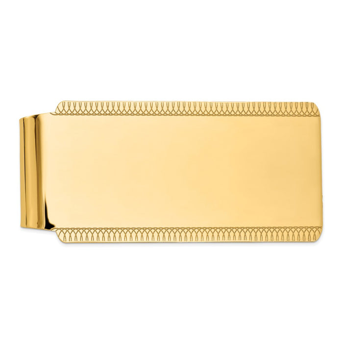 Occasion Gallery, Men's Accessories, 14k Yellow Gold High Polish Money Clip