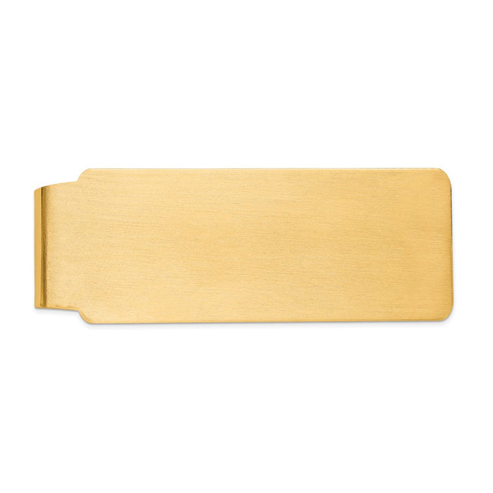 Occasion Gallery, Men's Accessories, 14k Yellow Gold Satin Finish Money Clip