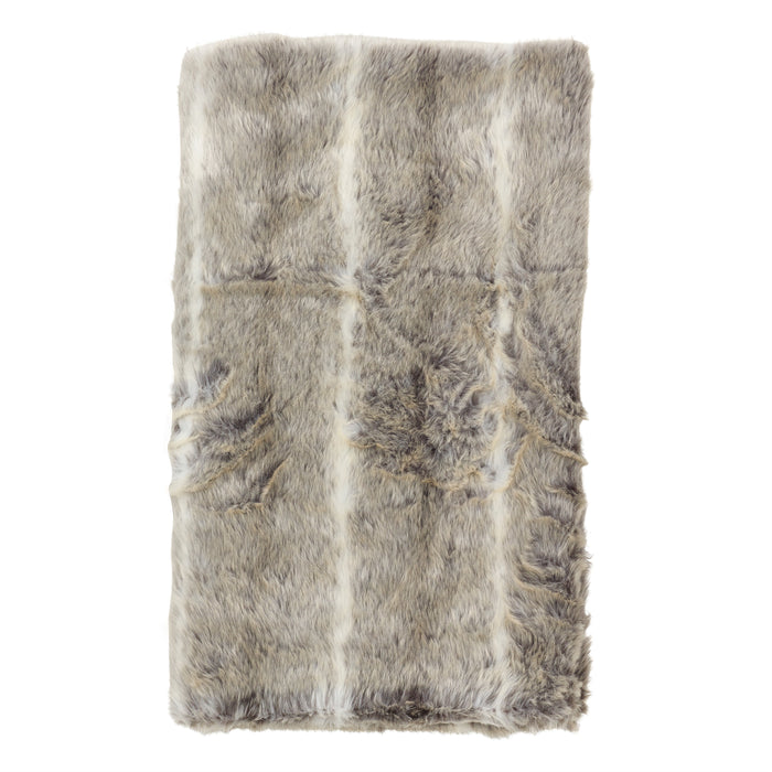 "Occasion Gallery Grey Faux Fur Decorative Cozy Throw Blanket,  50"" X 60"" 100% Acrylic (1 piece)"