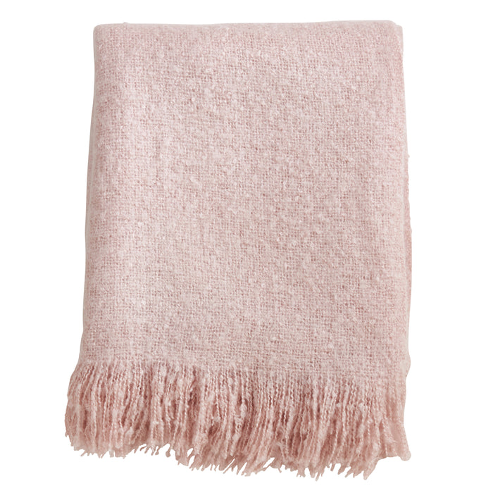 "Occasion Gallery Pink Faux Mohair Decorative Cozy Throw Blanket,  50"" X 60"" 100% Acrylic (1 piece)"