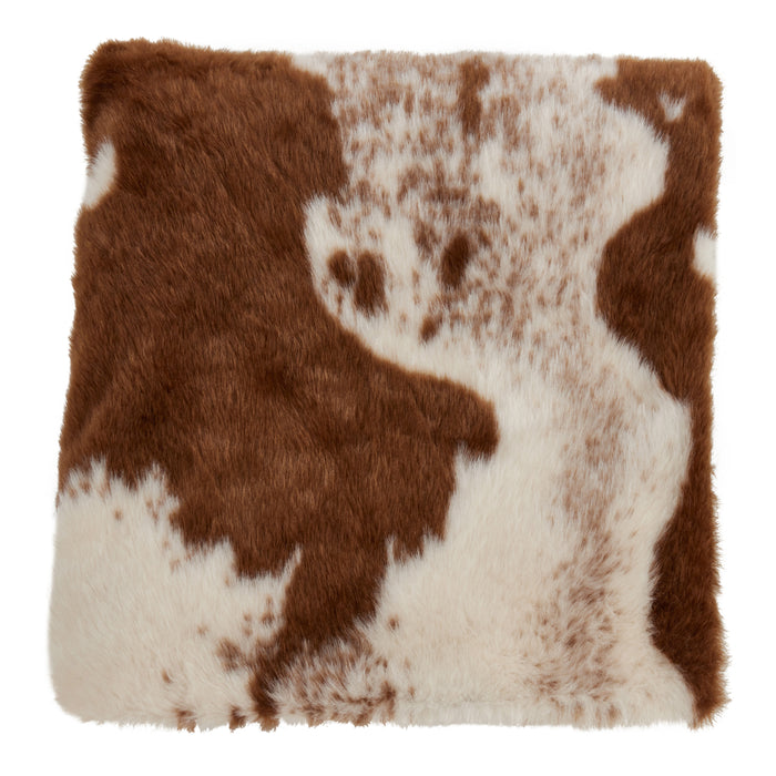 "Occasion Gallery Brown Faux Fur Cow Hide Decorative Cozy Throw Blanket,  50"" X 60"" 100% Polyester (1 piece)"