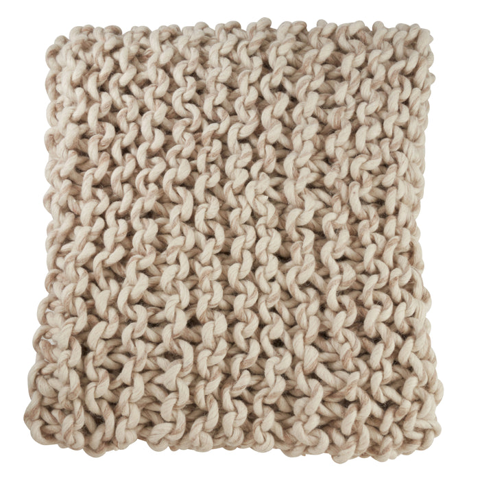 "Occasion Gallery Natural Chunky Knit Decorative Cozy Throw Blanket,  50"" X 60"" 100% Wool (1 piece)"