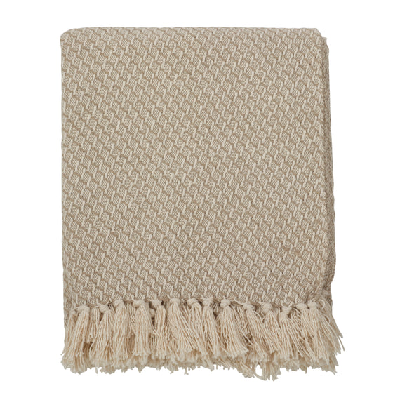 Occasion Gallery Natural Tasseled Decorative Cozy Throw Blanket,  50