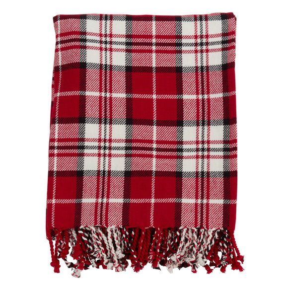 Occasion Gallery Red Plaid Checkered  Decorative Cozy Throw Blanket,  50