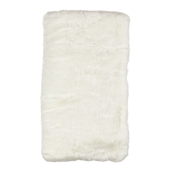 Occasion Gallery White Faux Fur Decorative Cozy Throw Blanket,  50