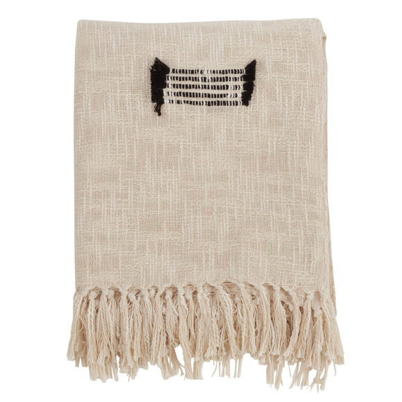 Occasion Gallery Natural Fringe Line Decorative Cozy Throw Blanket,  50
