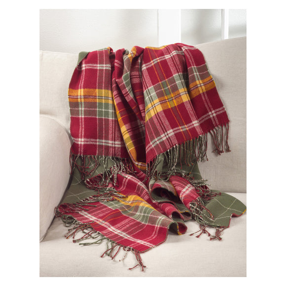 Occasion Gallery Multi Plaid Checkered  Tasseled Decorative Cozy Throw Blanket,  50