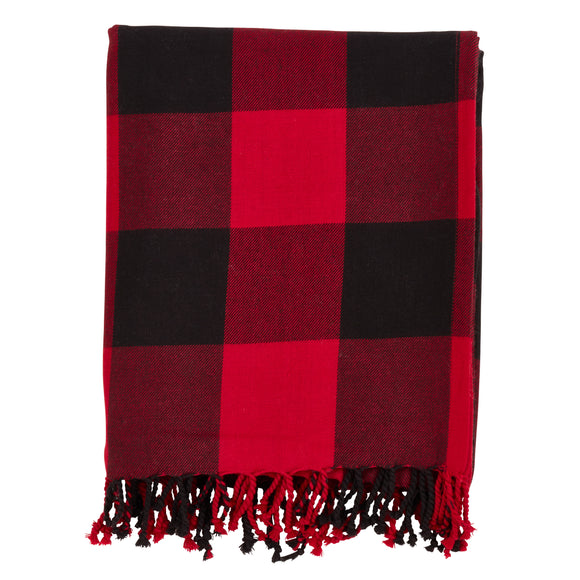 Occasion Gallery Red Buffalo Plaid Checkered  Decorative Cozy Throw Blanket,  50