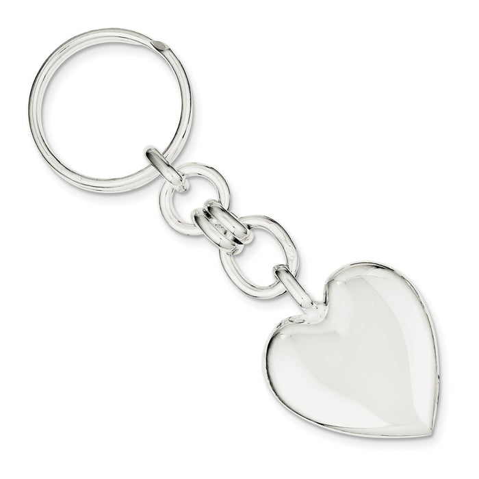 Occasion Gallery 925 Sterling Silver Engravable Heart Key Ring