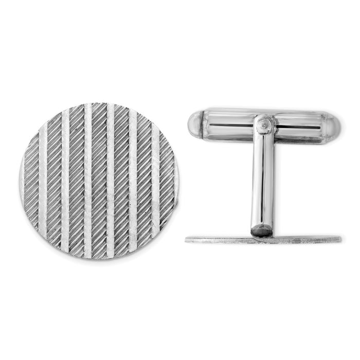 Occasion Gallery, Men's Accessories, 925 Sterling Silver Rhodium-plated Cuff Links