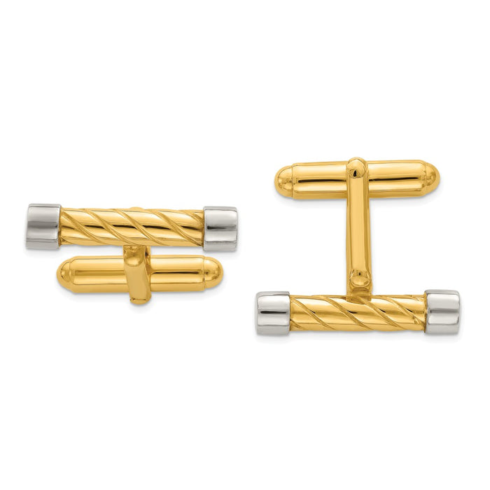 Occasion Gallery, Men's Accessories, 925 Sterling Silver & Vermeil Bar Cuff Links