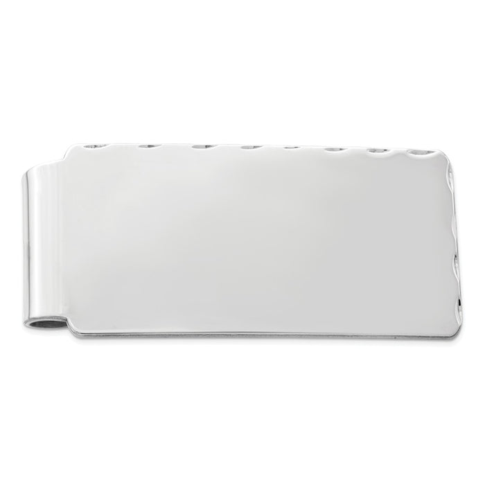 Occasion Gallery, Men's Accessories, 925 Sterling Silver Rhodium-plated Money Clip