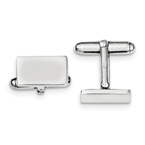Occasion Gallery, Men's Accessories, 925 Sterling Silver Rhodium-plated and Cuff Links