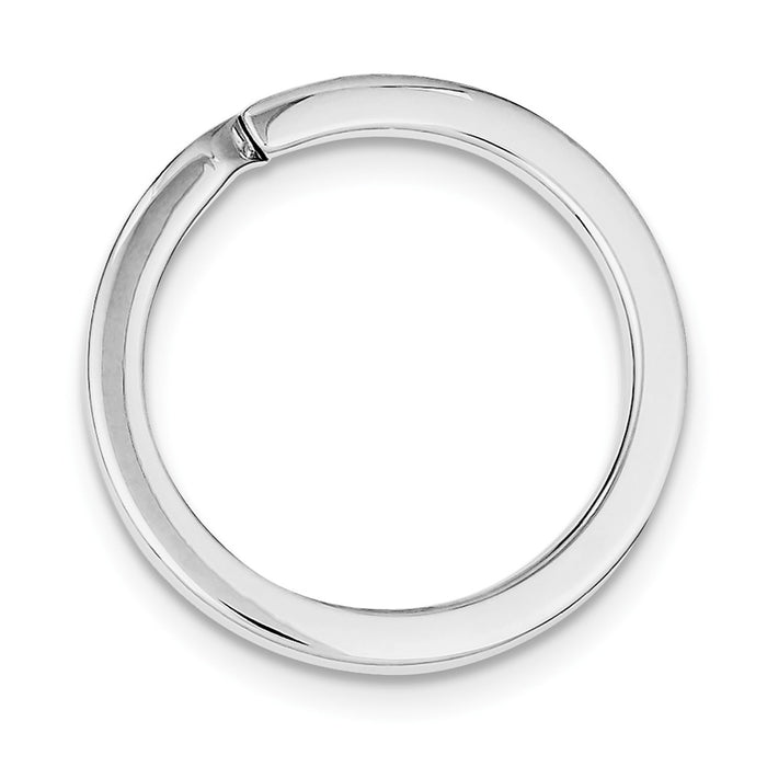 Occasion Gallery 925 Sterling Silver Rhodium-plated Medium Key Ring