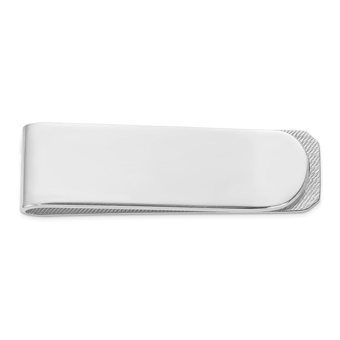 Occasion Gallery, Men's Accessories, 925 Sterling Silver Rhodium Plated Money Clip