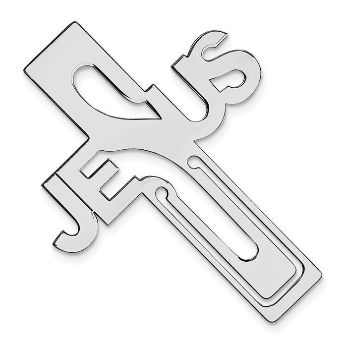 Occasion Gallery Gifts, 925 Sterling Silver Rhodium-plated Jesus Cross Bookmark