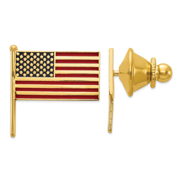 Occasion Gallery, Men's Accessories, 14k Yellow Gold Enameled Flag Tie Tac