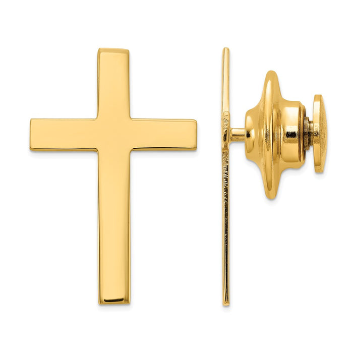 Occasion Gallery, Men's Accessories, 14k Yellow Gold Cross Tie Tac
