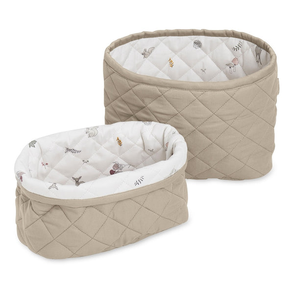 QUILTED STORAGE BASKET SET HAZEL