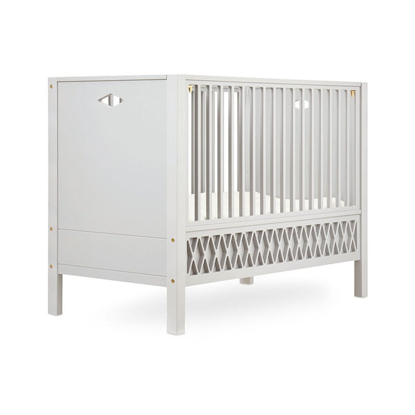 HARLEQUIN BABY BED CLOSED ENDS 60X120CM LIGHT SAND