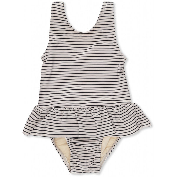 SOLEIL GIRLS SWIMSUIT STRIPED NAVY/NATURE