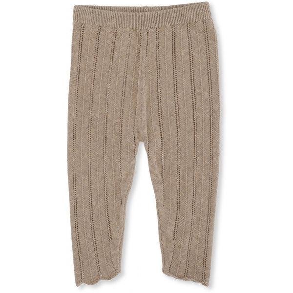 BREMER PANTS POINTELLE BROWN MELANGE