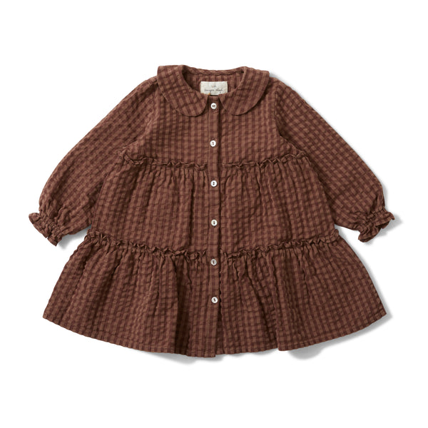 ADA DRESS BROWN CHECK