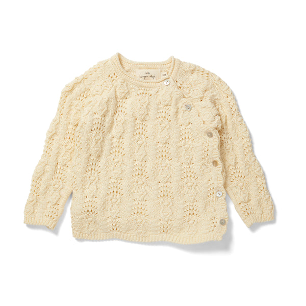 MATHEO WRAP CABLE CARDIGAN OFF WHITE