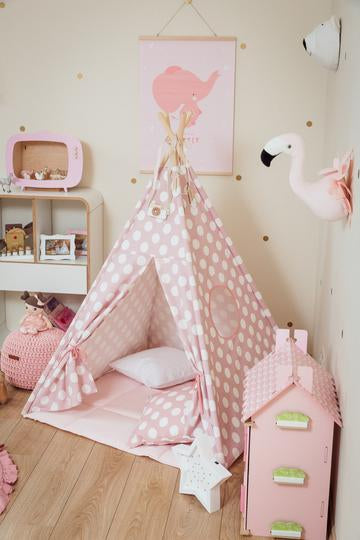 TIPI SET PINK DOTS