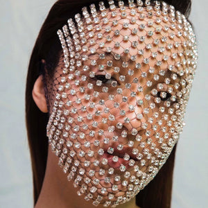 Diamond Face Mask Crystal Sheridan Tjhung Luxury veil full