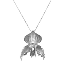 Load image into Gallery viewer, Melted Slipper Orchid - Silver Fine Chain