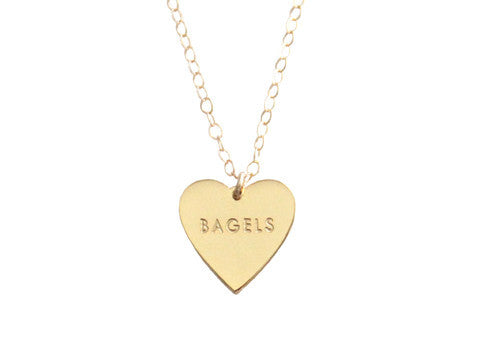 "MY HEART BELONGS TO ""BAGELS"" NECKLACE"