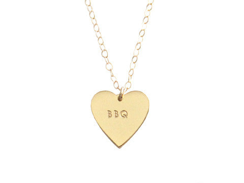 "MY HEART BELONGS TO ""BBQ"" NECKLACE"